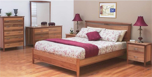 GLENDALE QUEEN 3 PIECE BEDSIDE BEDROOM SUITE - BLACKWOOD