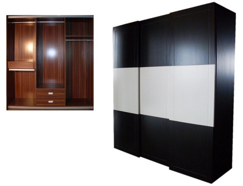 DIL2007 WARDROBE 2200(H) x 2000(W) - BLACK AND WHITE