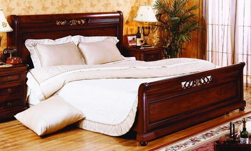 KING MADISON BED - AGED WALNUT
