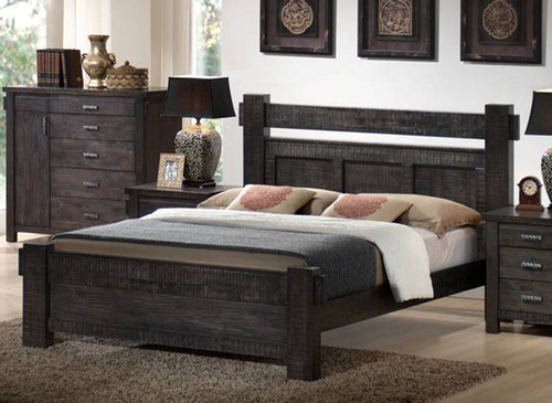QUEEN BUCKINGHAM BED (MODEL - 19-5-1-20-20-12-5) - BLUE