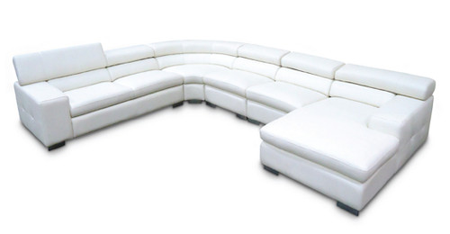 COCO 6 SEATER FULL LEATHER CORNER CHAISE