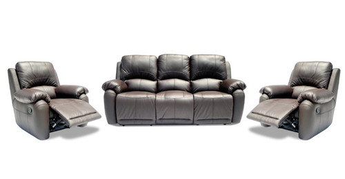 MOLLY 3RR+R+R FULL LEATHER RECLINER SUITE