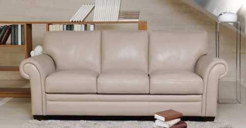 SORRENTO 3 SEATER + 2 SEATER FULL LEATHER LOUNGE (ITALIAN M1) - (2 SEATER NOT PICTURED)