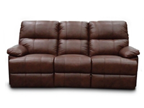 SWISS 2RR FULL LEATHER RECLINER SOFA (SEMI ANILINE) - (NOT AS PICTURED)