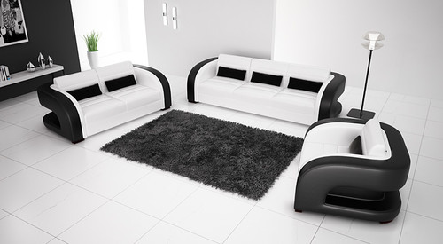 KHIERA (G5007) 1 SEATER + 2 SEATER + 3 SEATER LEATHER/ETTE COMBINATION LOUNGE SUITE - ASSORTED COLOURS