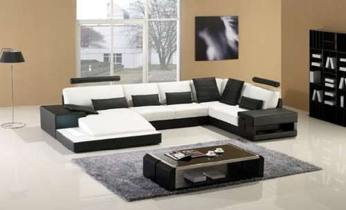 NATALIE (G1026) 3 SEATER + 2 SEATER LEATHER/ETTE COMBINATION CHAISE SUITE - ASSORTED COLOURS