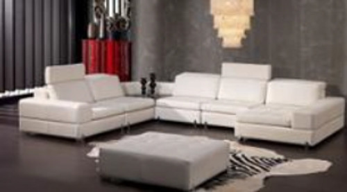 ERICH (F2075) LEATHER/ETTE COMBINATION CORNER CHAISE LOUNGE SUITE - ASSORTED COLOURS