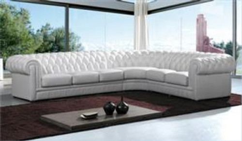 MILENA (F2084) 3 SEATER + 2 SEATER LEATHER/ETTE COMBINATION CORNER LOUNGE SUITE - ASSORTED COLOURS