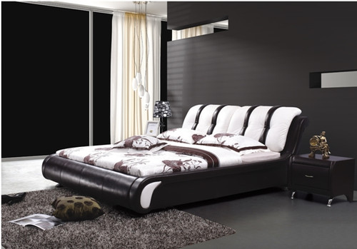QUEEN ASPEN LEATHERETTE BED (A8161) - ASSORTED COLOURS