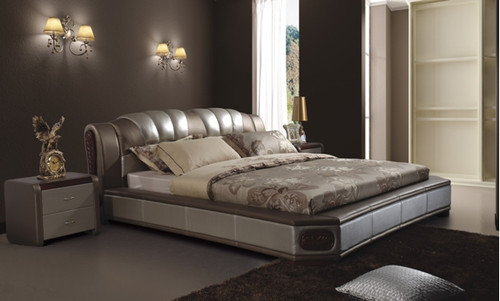 KING REI LEATHERETTE BED (A8172) - ASSORTED COLOURS