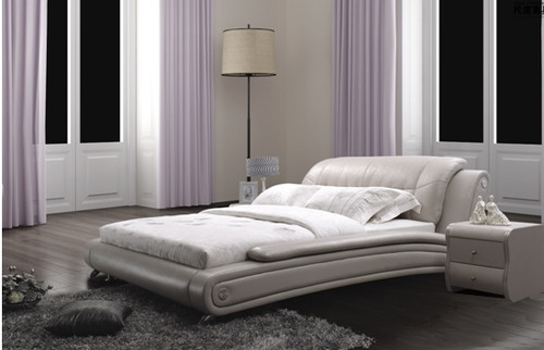 QUEEN SKYLAR-ROSE LEATHERETTE BED (A8178) - ASSORTED COLOURS