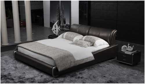 QUEEN VICTOR EMMANUEL LEATHERETTE BED (A9025) - ASSORTED COLOURS