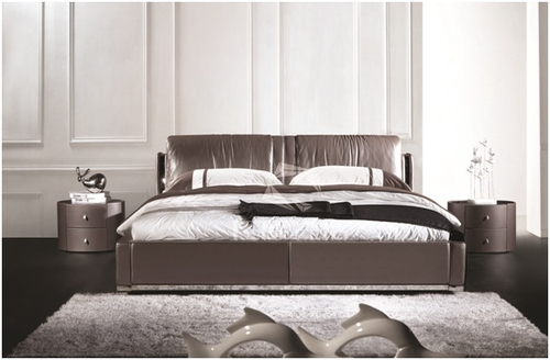 ATREUS QUEEN 3 PIECE BEDSIDE BEDROOM SUITE - LEATHERETTE - ASSORTED COLOURS (WITH OPTIONAL UPGRADE FOR GAS LIFT UNDERBED STORAGE)