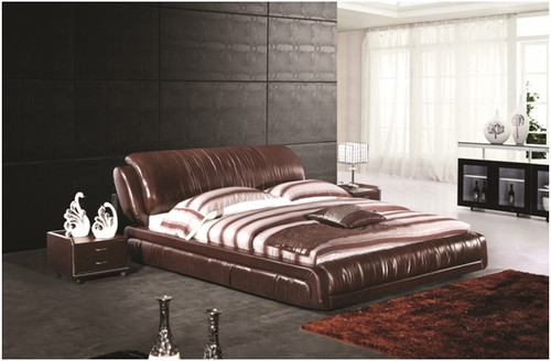 KING ROSSO LEATHERETTE BED (A9903) WITH GAS LIFT UNDERBED STORAGE - ASSORTED COLOURS