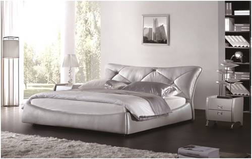 KING FRANCO LEATHERETTE BED (A9909) WITH GAS LIFT UNDERBED STORAGE - ASSORTED COLOURS