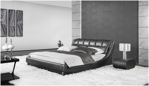 QUEEN JANSEN LEATHERETTE BED (A9917) - ASSORTED COLOURS