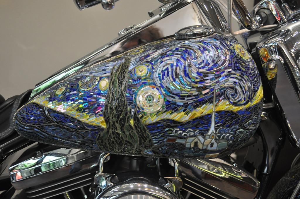 Vincent Van Gogh Glass Mosaic 1998 Harley Roughrider-SOLD