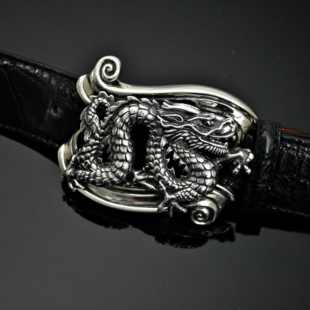Sterling Silver Dragon Buckle