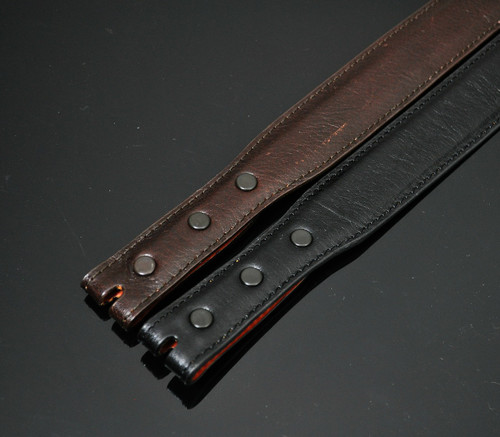 Smooth Calfskin Leather 1 1/4 inch Tapered