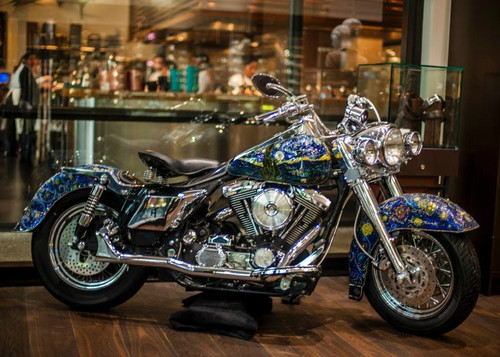 Vincent Van Gogh Glass Mosaic 1998 Harley Roughrider-SOLD