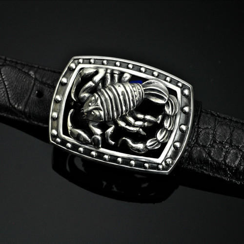 Sterling Silver Scorpion Buckle
