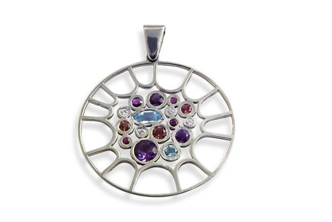 pendant with precious gemstones