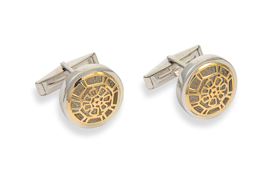 14K Gold with sterling silver