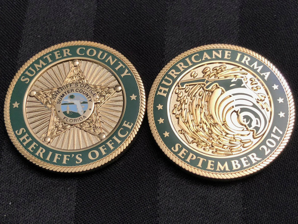 SUMTER CTY SHERIFF HURRICANE COIN RARE