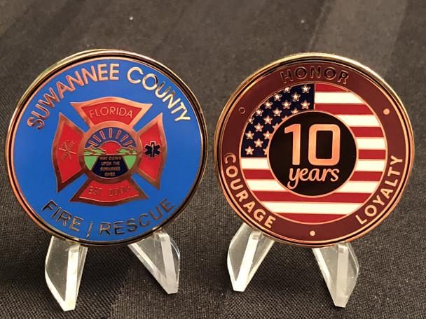 SUWANNEE CTY FL FIRE & RESCUE CHALLENGE COIN RARE