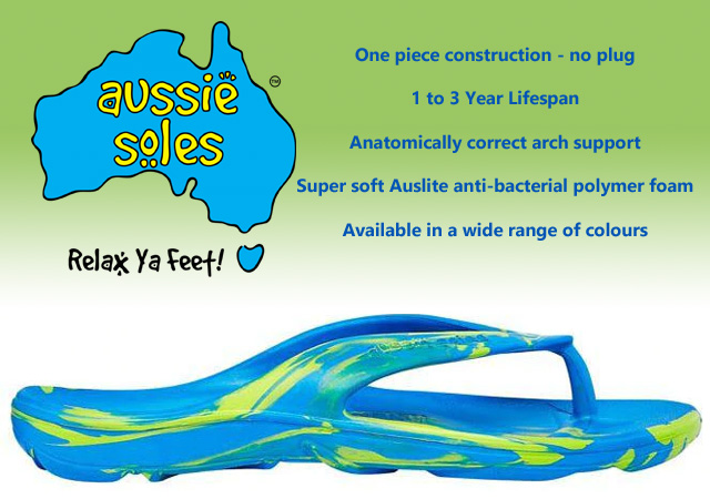 Check Out our range of Aussie Soles thongs