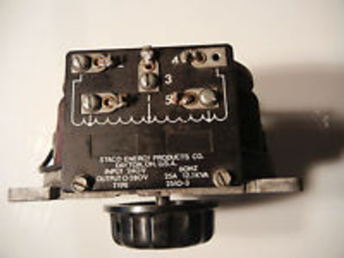 USED    STACO 2510 TYPE VARIABLE TRANSFORMER
