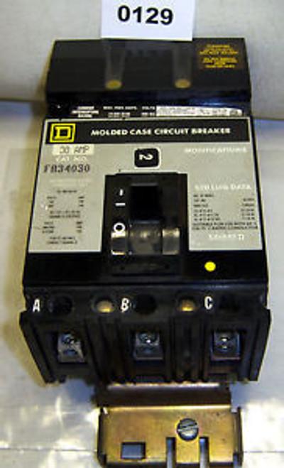 (0129) Square D Circuit Breaker FA34030 3P 30A 480 VAC I Line