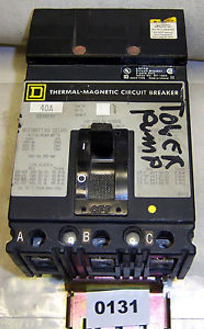 (0131) Square D Molded Case Circuit Breaker FA34040