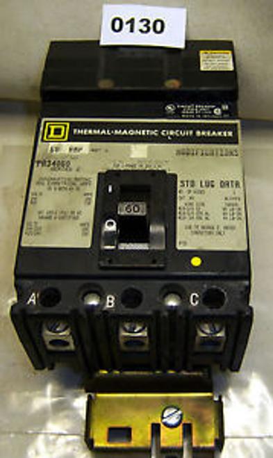 (0130) Square D Molded Case Circuit Breaker FA34060