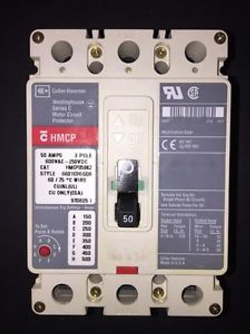 (1) Hmcp50K2 Cutler Hammer Three Phase 50 Amp Circuit Breaker 90