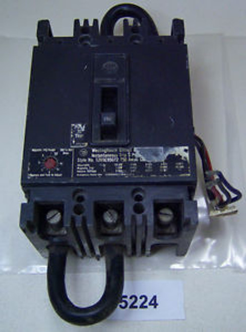 (5224) Westinghouse Circuit Breaker W/ Auxiliary Switch 1265C95G12