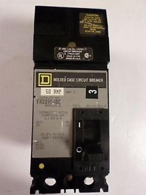 (1) SQUARE D FA22050BC CIRCUIT BREAKER 2 POLE 50 AMP