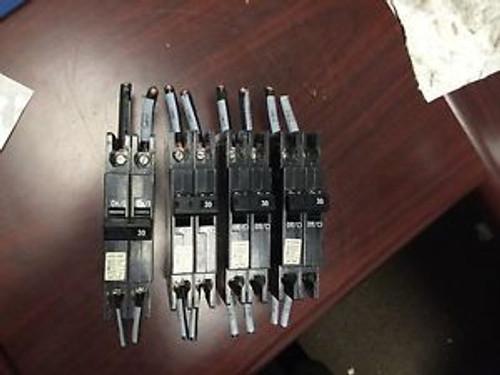 (4) Cutler-Hammer QCR2030 HACR Type Circuit Breaker 30A 240V 2 Pole