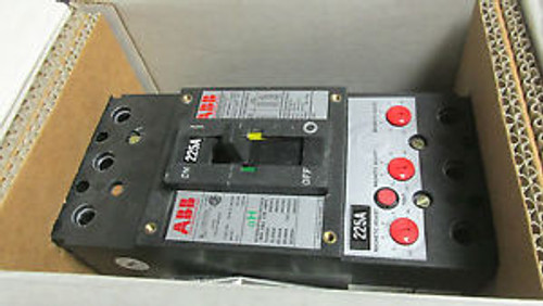 . ABB Circuit Breaker 225A, 600V Cat FHB63225L With 225A Mag.Trip .. VY-503