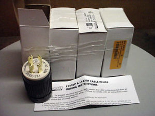 (4)  Reliance Locking Plugs  L1430P   30 amp  125/250V   NEW in the Box