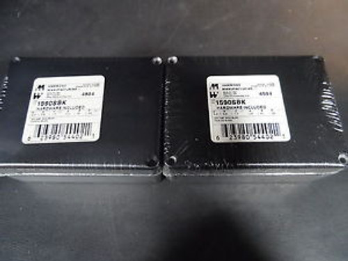 Lot of (2x)  Hammond - 1590SBK - Die Cast Enclosure Case w/ Hardware - Black