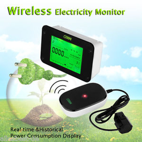Wireless electricity Energy monitor Home Hause Power Meter Sensor Transmitter
