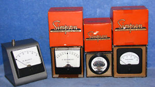 SIMPSON METERS GAUGES MILLIVOITS MICROAMPERES 185  47 1327 NEW IN BOX FREE SHIP