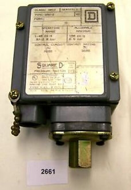 (2661) Square D  Pressure Switch  9012-GAW-2