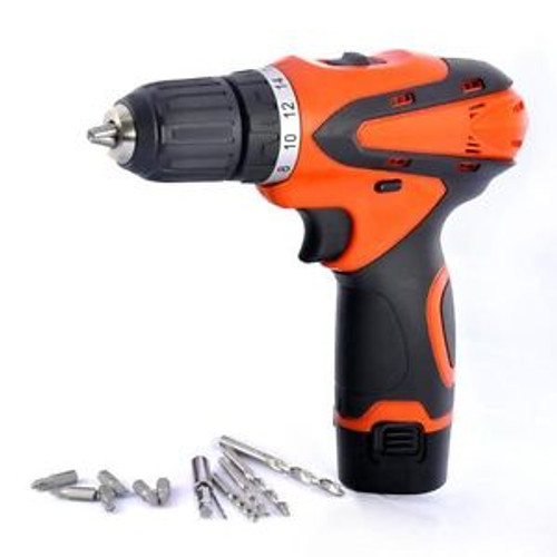 12V Cordless Electric Drill Featuring: Flashlight, Rechargeable Battery, 2 Speed