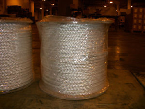 1/2 X 1200 Double Braid Cable Pulling Rope W/ 6 Eyes On Each End