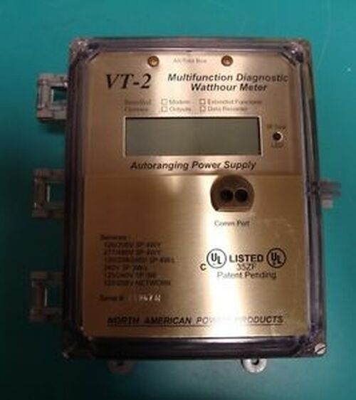 Perfect Autoranging Multifunction Diagnostic Watt Hour Meter Whm Vt-2 W/ Cts