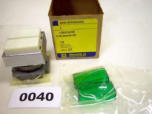 (0040) Square D Dual Push Button White Green 9001KXRDGG