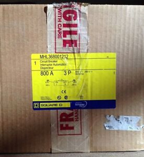 Square-D MHL36800  MHL368001212  New In Box 3P, 800A 480/600V  Free Shipping