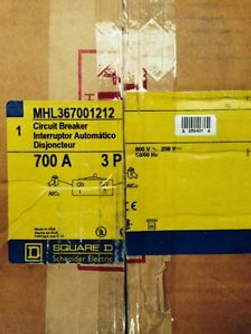 Square-D MHL36700  MHL367001212  New In Box 3P, 700A 480/600V  Free Shipping